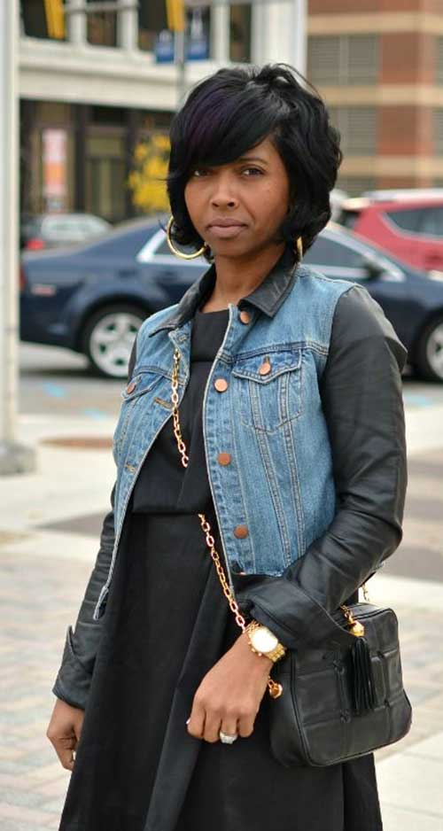 Thick-Black-Bob-Haircut-with-Bangs Black Girl Bob Hairstyles