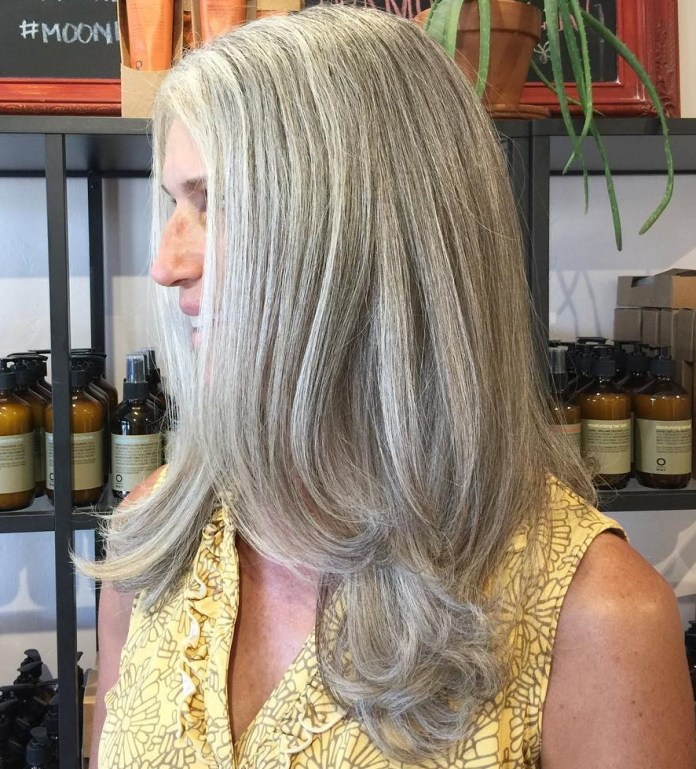 Unbarred-Pinion Glamorous Grey Hairstyles for Older Women