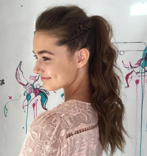 Updo-with-Side-Braids 10 Glamorous curly ponytails you must try