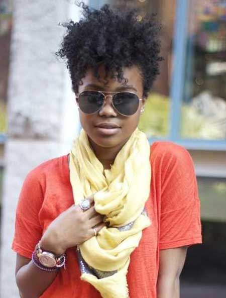 Very-Short-Afro-Style Short Curly Women's Hairstyles