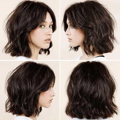 Wavy-Short-Dark-Haircut-for-Women Best Short Hair Cuts For Women