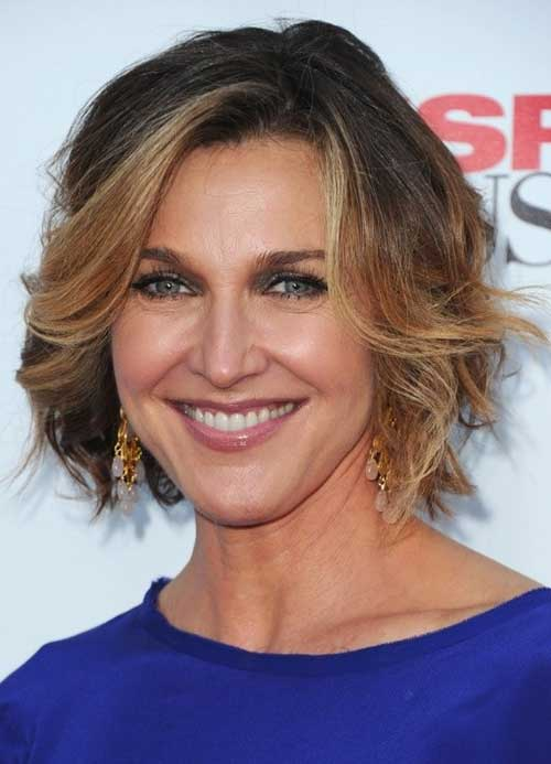 Wavy-Short-Haircut-for-Ladies-Over-50 Pictures Of Short Haircuts For Over 50