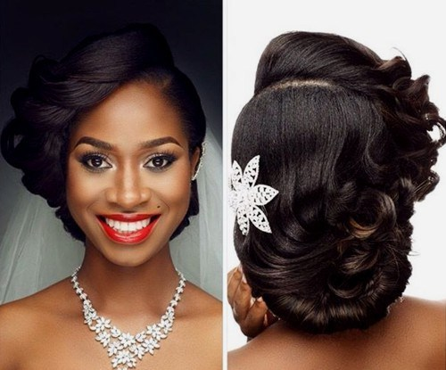 Wedding-hairstyle-for-black-women 15 Stunning Bridal Hairstyles
