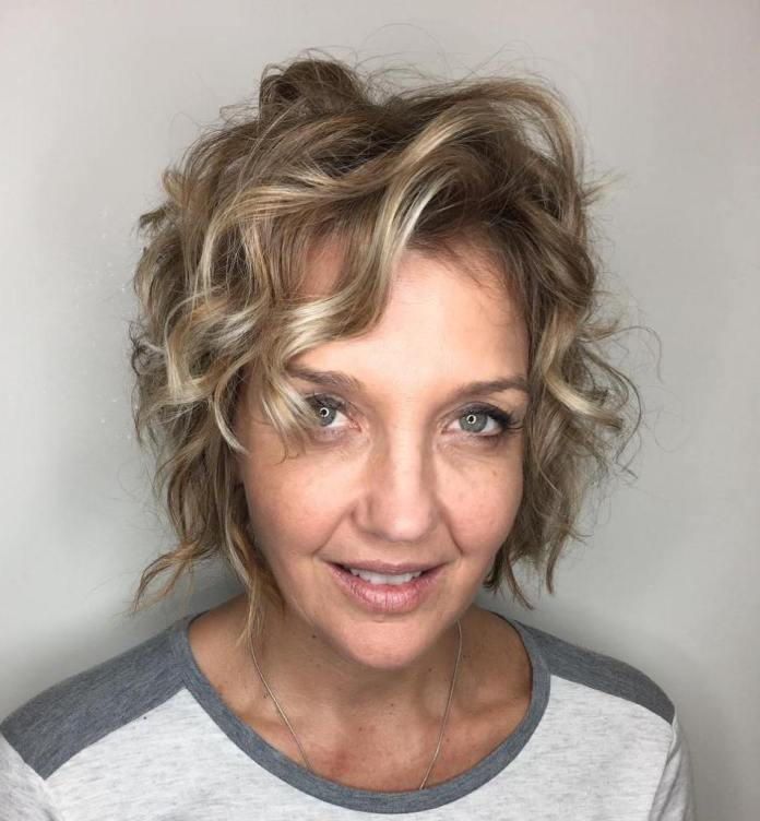 Youthful-All-Over-Curl Gorgeous Hairstyles and Haircuts for Women Over 40