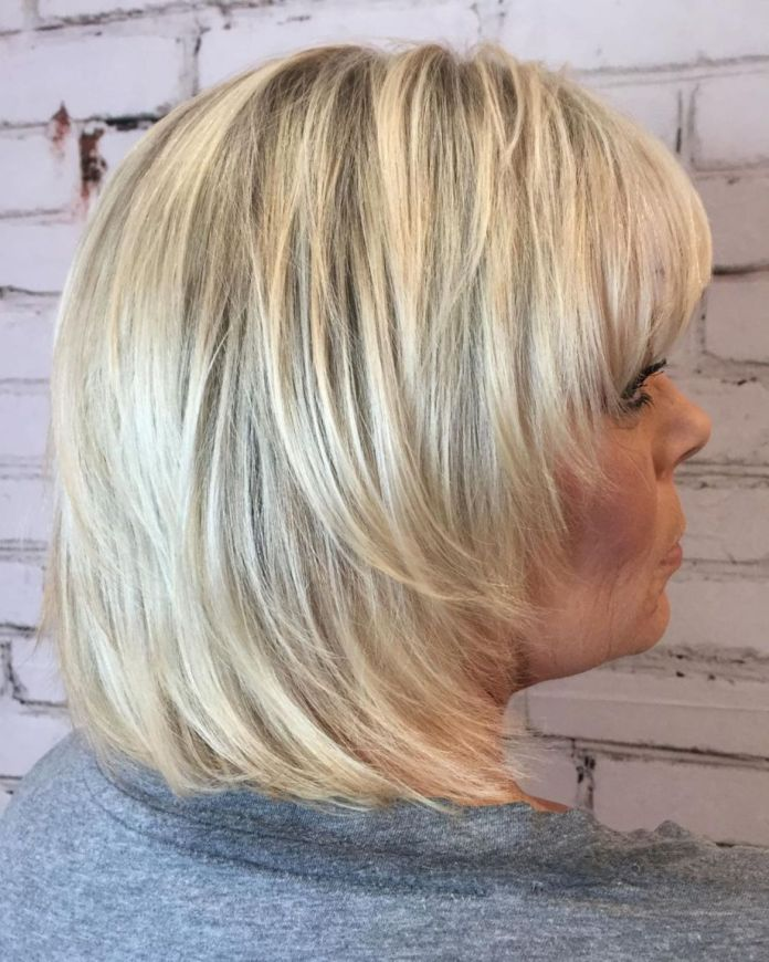 50-Straight-Collarbone-Shag Shaggy Hairstyles for Women with Fine Hair over 50