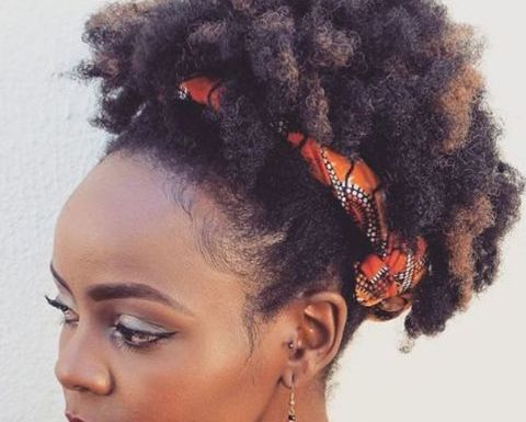 Afro-Puff-with-a-Headband Home