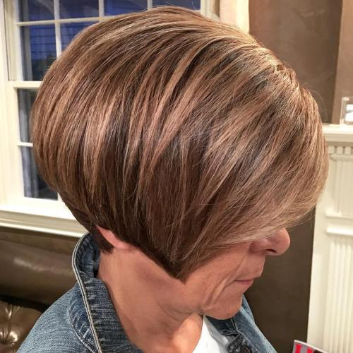 Angled-Pixie-Bob 12 best pixie hairstyles for women over 50