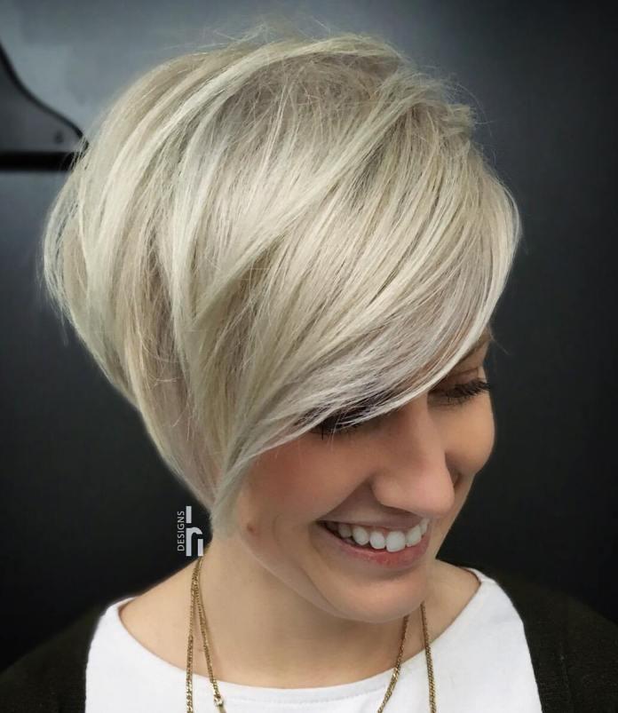 Asymmetrical-Pixie. 15 Graceful Hairstyles for Fine Straight Hair