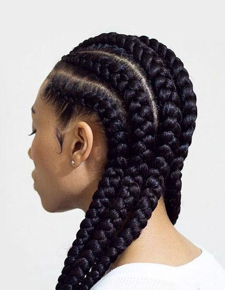 Big-Cornrow-Braids 10 Stunning Cornrow Hairstyles to Inspire Your Next Look