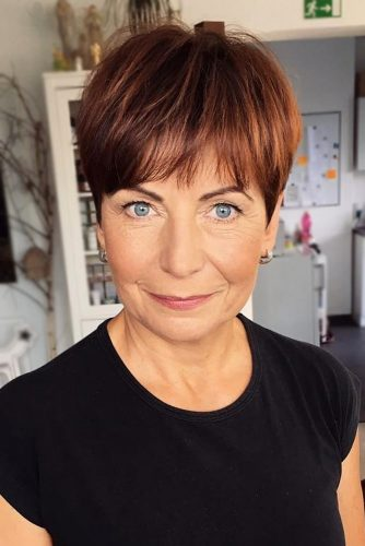 Brown-Pixie Elegant Pixie Hairstyles For Women over 50