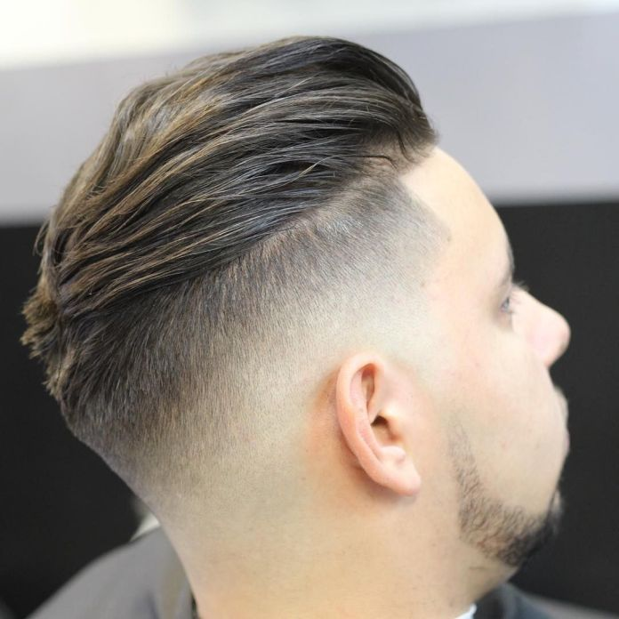 Circular-Disconnected-Undercut-with-Faded-Sides Most Stylish Hairstyles with Disconnected Undercut