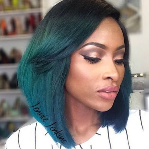 Color-Pop-with-Long-Bob 10 stunning short bob haircuts for black women