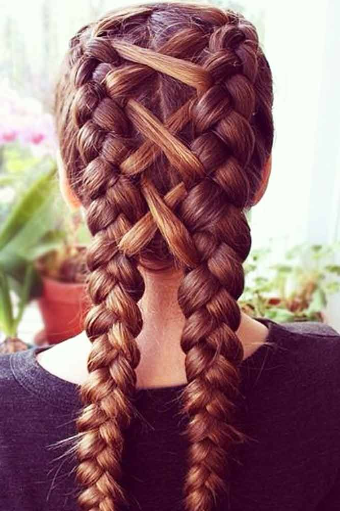 Crisscross-Dutch-Braid-Hairstyle Glamorous Dutch Braid Hairstyles to Try Now