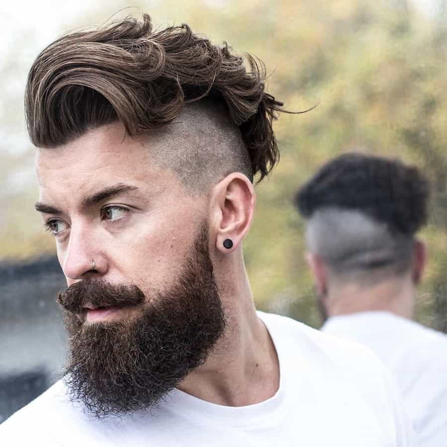 Curly-Wavy-Mohawk Most Stylish Hairstyles with Disconnected Undercut