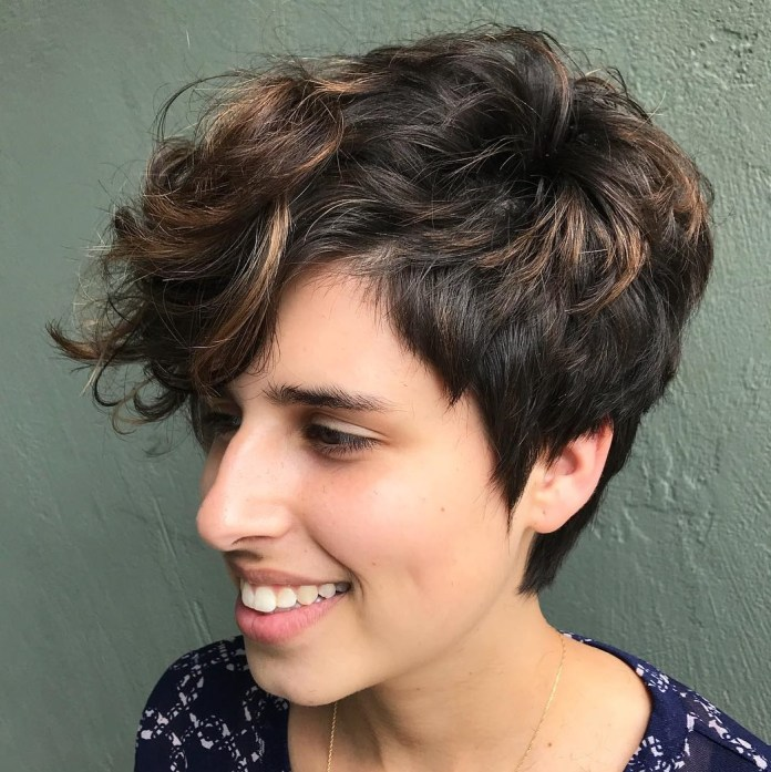 Disheveled-Pixie Undoubtedly Coolest Pixie Cuts for Wavy Hair