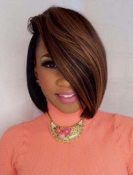 Extreme-Side-Parted-Bob 10 stunning short bob haircuts for black women