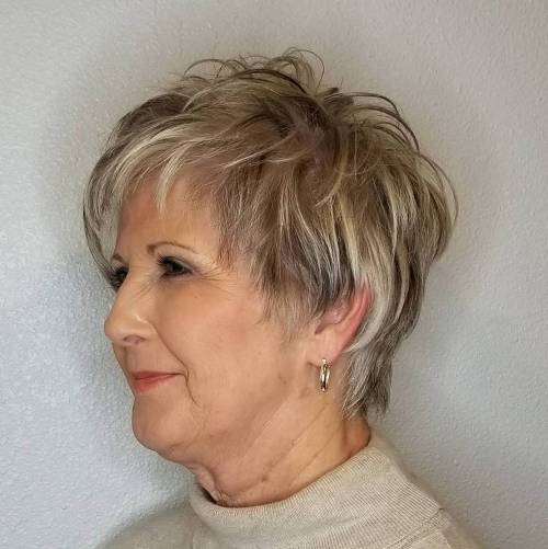 Feathered-Pixie-for-Fine-Hair 12 best pixie hairstyles for women over 50