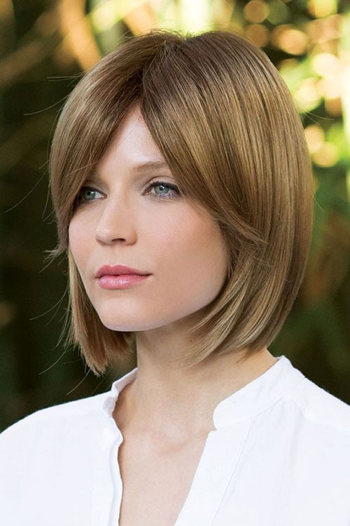 Fine-Brown-Bob 14 stunning Short Haircuts and Hairstyles for Fine Hair