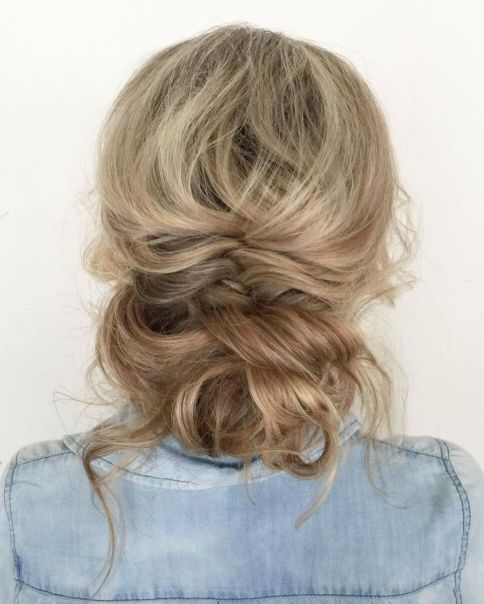 Flowy-Low-Updo 15 Picture-Perfect Hairstyles for Long Thin Hair