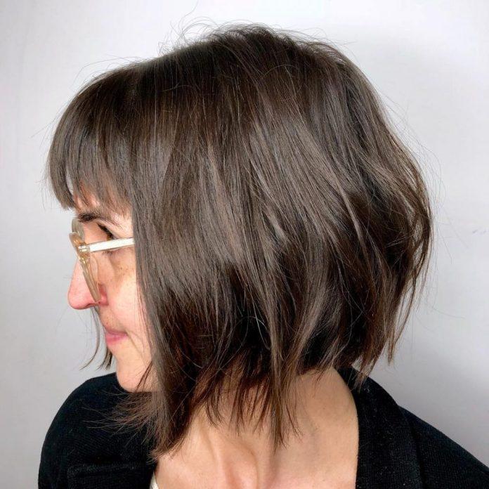 Front-Fringe-Undulated-Bob-Haircut Most Amazing Bob Haircuts for Thin Hair