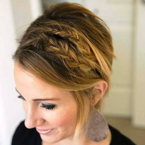 Ginger-Blonde-Bob-with-Two-Braids 15 eye-catching Prom Hairstyles for Short Hair