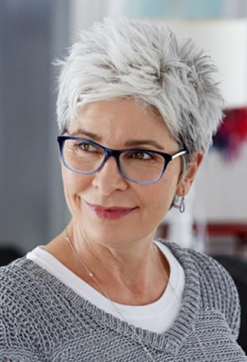 Gray-Hair 15 Beautiful pixie cuts for older women