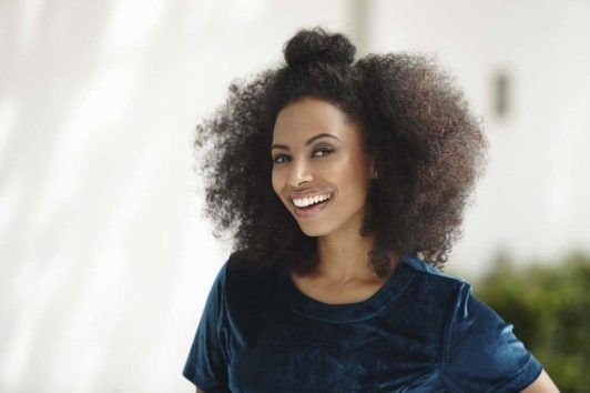 Half-Top-Knot 16 Stunning Natural Hairstyles for Black Women