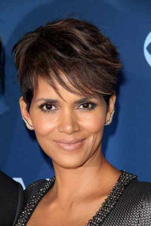 Halle-Berry Trendy Short Haircuts for Women Over 40