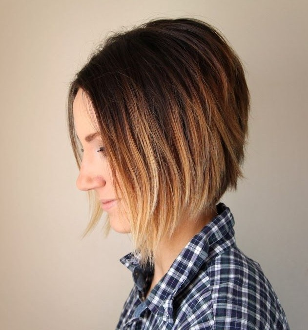 Layered-Ombre-A-Line-Bob 20 of the Most Hottest A-Line Bob Hairstyles