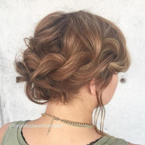 Loose-Twisted-Updo-for-Prom 15 eye-catching Prom Hairstyles for Short Hair