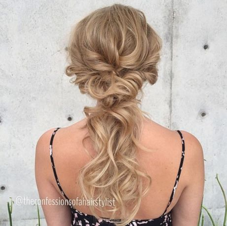 Low-Blonde-Ponytail-Updo 15 Picture-Perfect Hairstyles for Long Thin Hair