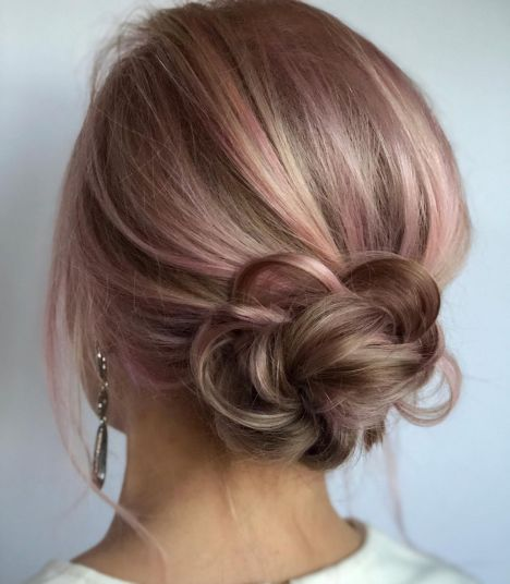 Low-Flower-Bun-Updo 12 Stunning Updos For Medium Length Hair
