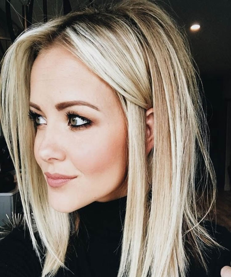 Medium-Blonde-Haircut Most Trendy and Terrific Medium Hairstyles 2020