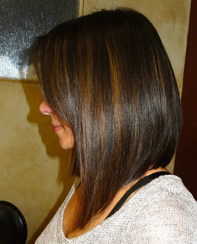 Medium-Length-A-line-Bob-with-Highlights 20 of the Most Hottest A-Line Bob Hairstyles