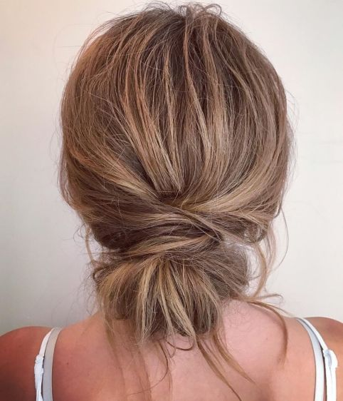 Messy-Wrapped-Chignon 12 Stunning Updos For Medium Length Hair