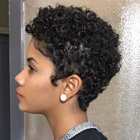 Pixie-with-Curls 12 Best Natural Hairstyles For Black Women