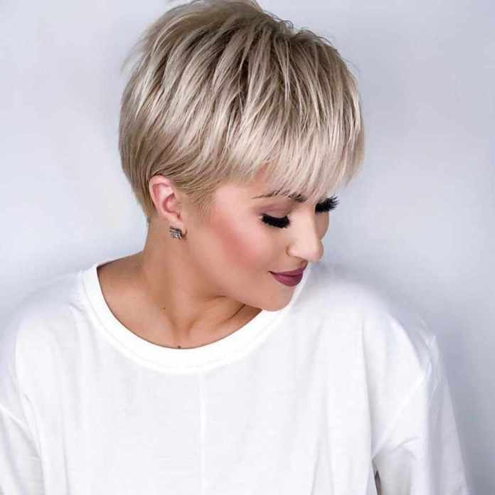 Platinum-Bangs Glamorous Pixie Cut 2020 for Astonishing Look