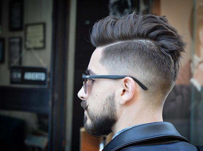 Pompadour-Look-with-Disconnected-Undercut Most Stylish Hairstyles with Disconnected Undercut