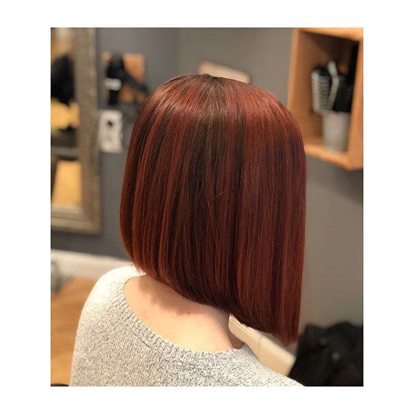 Red-Inverted-Bob 14 fabulous straight bobs hairstyles you might want to copy