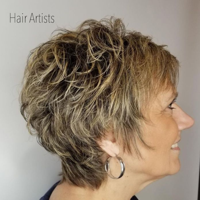 Shaggy-Layered-Short-Haircut Shaggy Hairstyles for Women with Fine Hair over 50