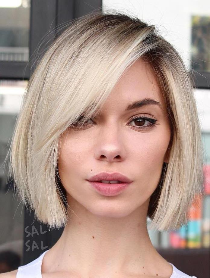 Short-Blunt-Blonde-Bob-1 15 flattering short hairstyles for thin hair