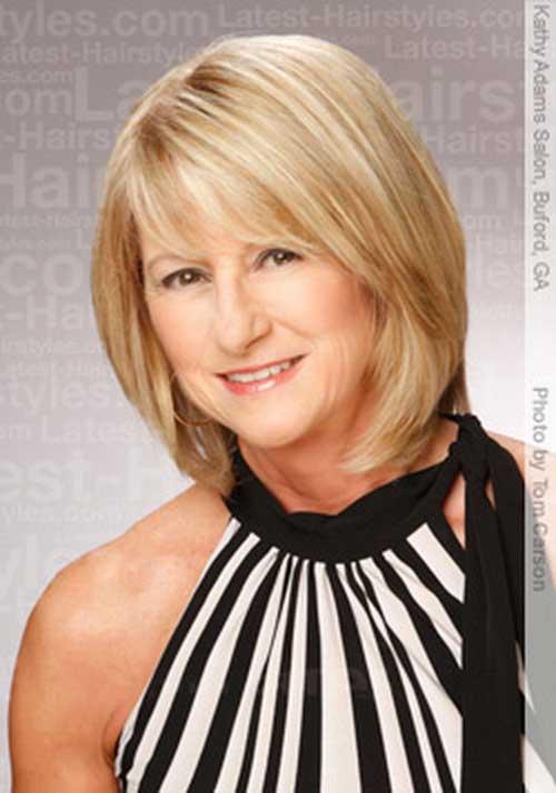 Short-Medium-Blonde-Hair Trendy Short Haircuts for Women Over 40