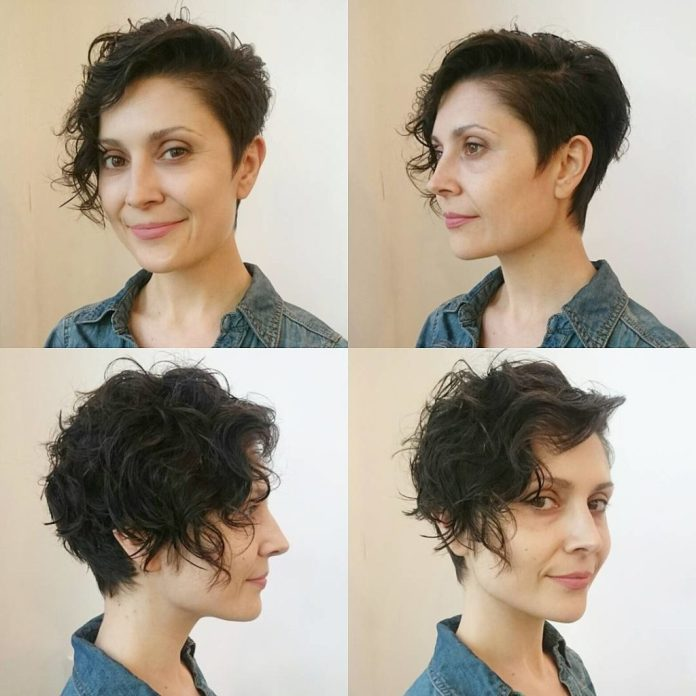 Short-Messy-Pixie Undoubtedly Coolest Pixie Cuts for Wavy Hair
