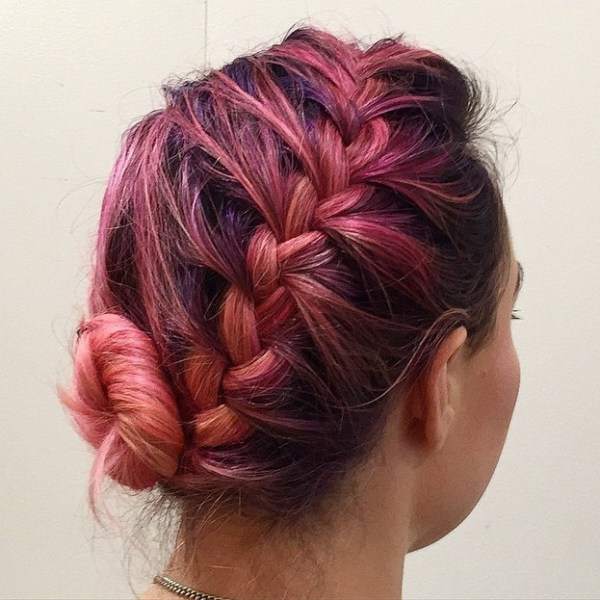 Short-Showcase-of-Color Quick and Easy Short Hair Buns to Try