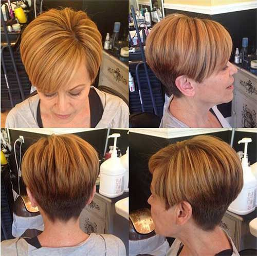 Short-Simple-Hair Trendy Short Haircuts for Women Over 40
