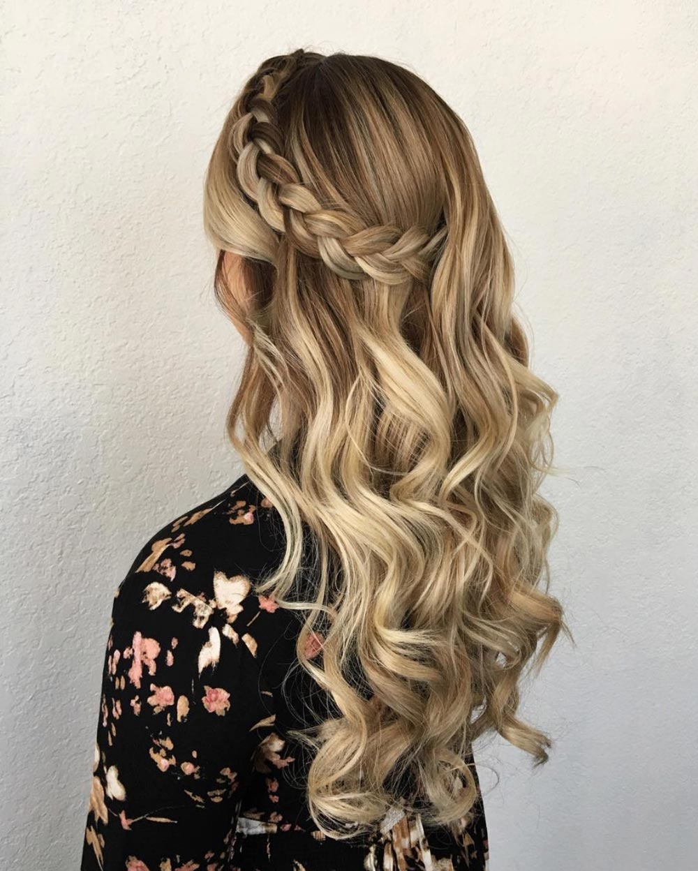 Side-Braid-with-Waterfall-Waves Trendy and Stunning Long Hairstyles 2020
