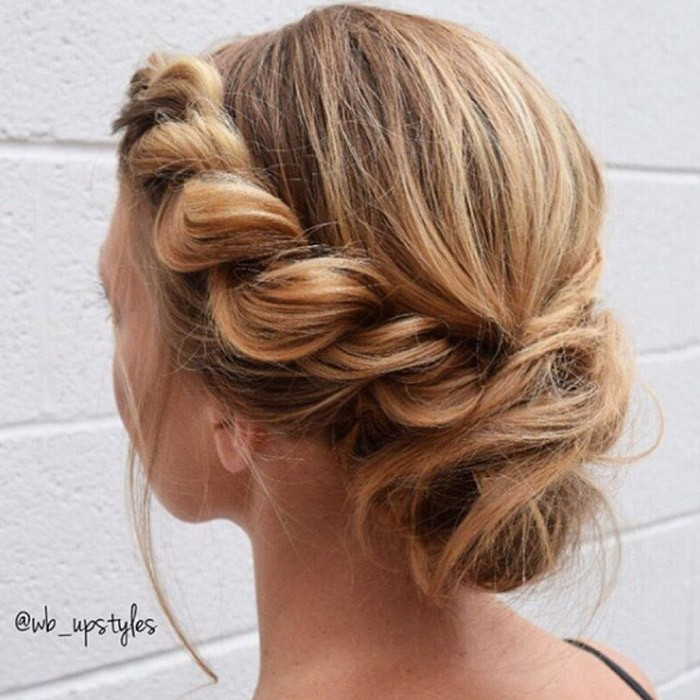 Side-twist Quick and Easy stunning Updos for Curly Hair