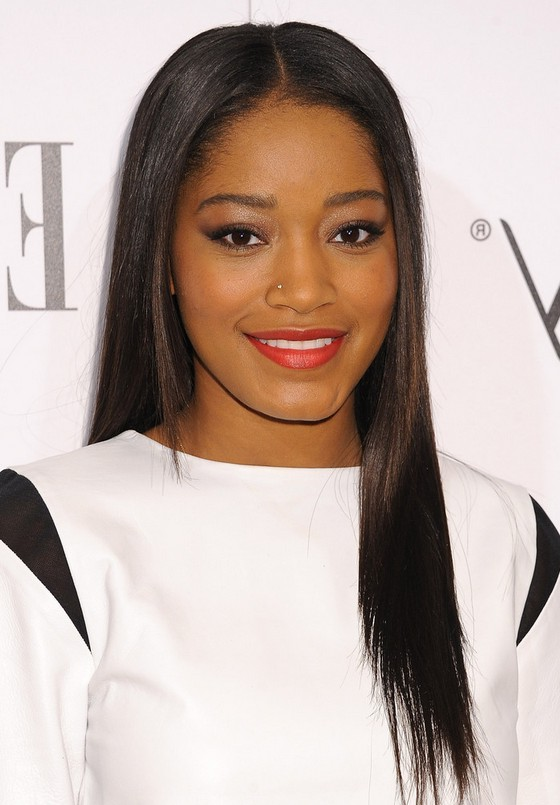 Simple-Straight-Dark-Brown-Hair-with-Layer-Cut Awesome Long Hairstyles for Black Girls