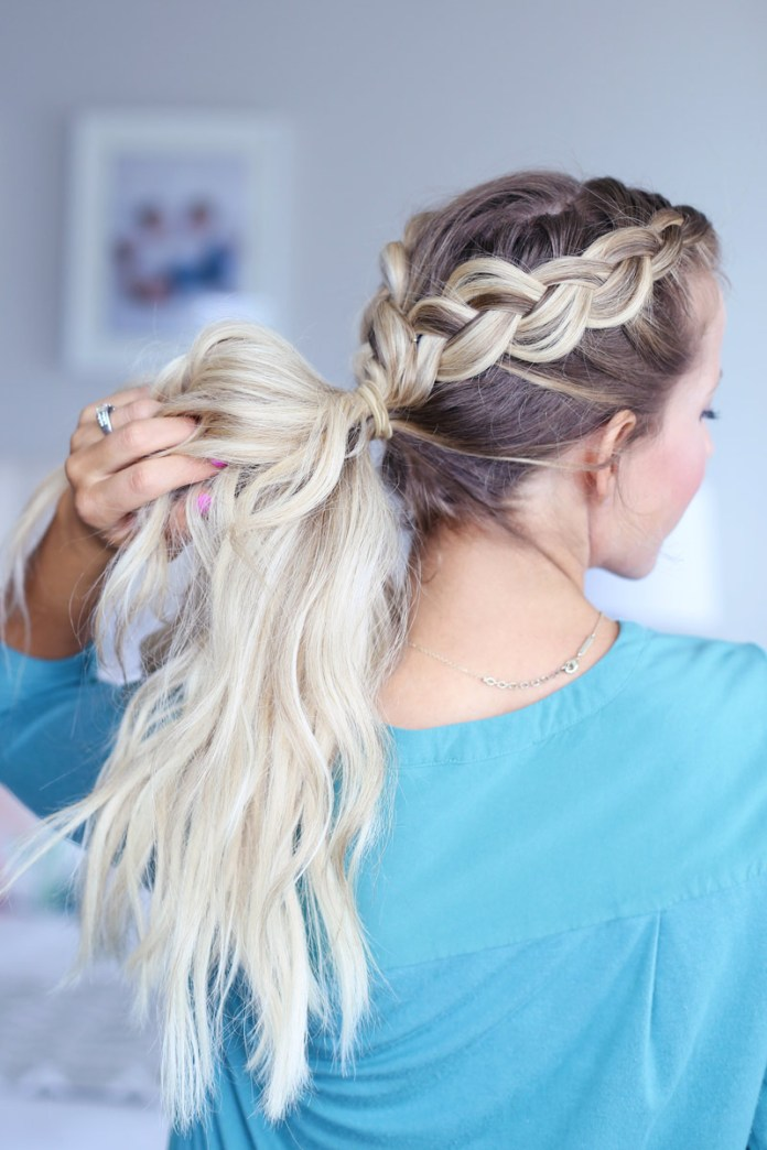 Single-Pony-Double-Braid-Hairstyle Glamorous Dutch Braid Hairstyles to Try Now