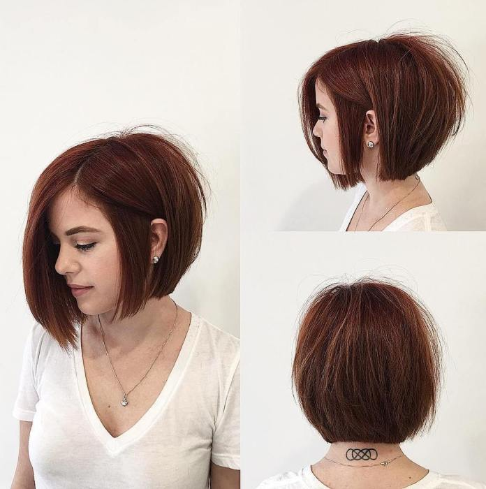 Smooth-Graduated-Bob 15 Graceful Hairstyles for Fine Straight Hair
